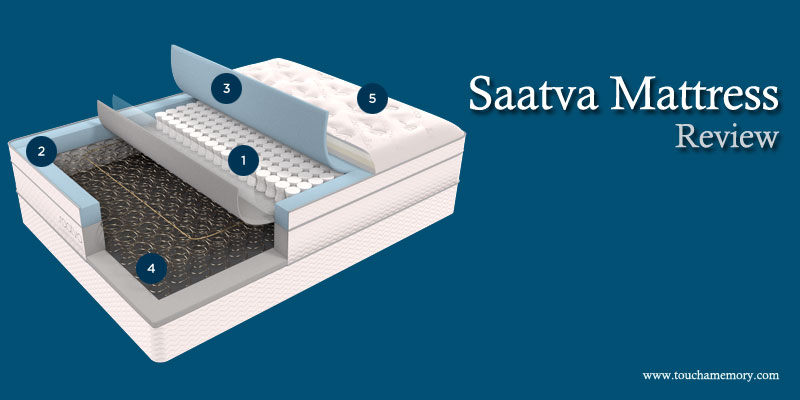 Touch a memory best memory foam mattress for Saatva mattress
